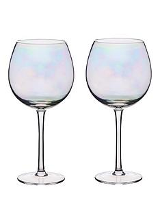 4bc02942ead KitchenCraft BarCraft Set of Two Iridescent Gin Glasses