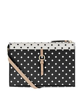 accessorize-charlie-polka-dot-cross-body-bag-blackwhite
