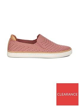 ugg-sammy-chevron-metallic-flat-plimsoll-shoes-pink