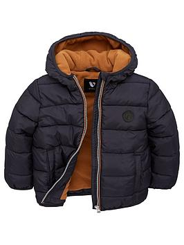 v-by-very-boys-fleece-lined-padded-hooded-coat-navytan