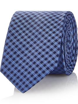 hugo-mens-check-pattern-silk-tie--nbspbluenavy