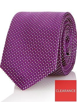 hugo-mens-micro-pattern-silk-tie-purple