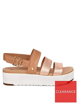 ugg-braelynn-metallic-flatform-sandals-rose-gold