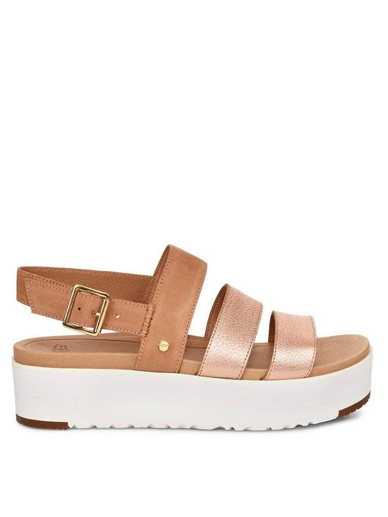 e2d667e6c701 UGG Braelynn Metallic Flatform Sandals - Rose Gold