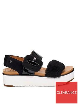 ugg-fluff-chella-flatform-sandals-black