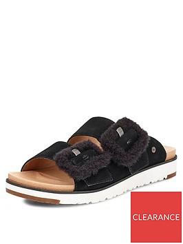 ugg-fluff-indio-flatform-sandals-black