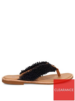 ugg-alicia-sheepskin-flip-flops-black