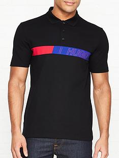 hugo-dantes-chest-logo-polo-shirt-black