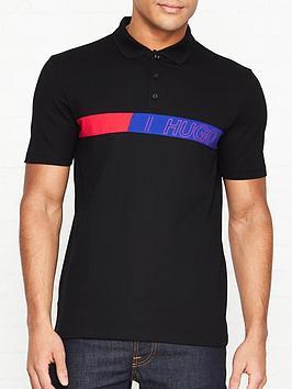 hugo-dantes-chest-logo-polo-shirt-black