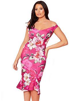 sistaglam-loves-jessica-scuba-bardot-bodycon-midi-dress-floral-print