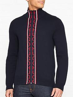 hugo-sugono-zip-logo-knitted-cardigan--nbspnavy