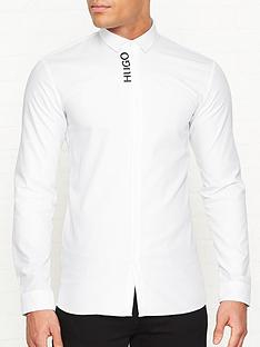 hugo-ernie-logo-long-sleeve-shirt-white