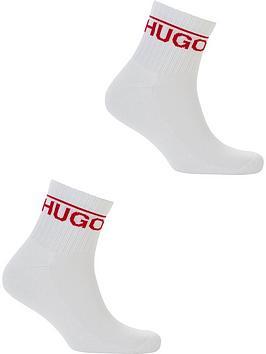 hugo-2pk-ankle-logo-sock