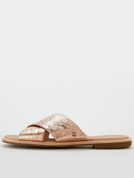 e328f70344f ... UGG Joni Metallic Sandals - Rose Gold. View larger