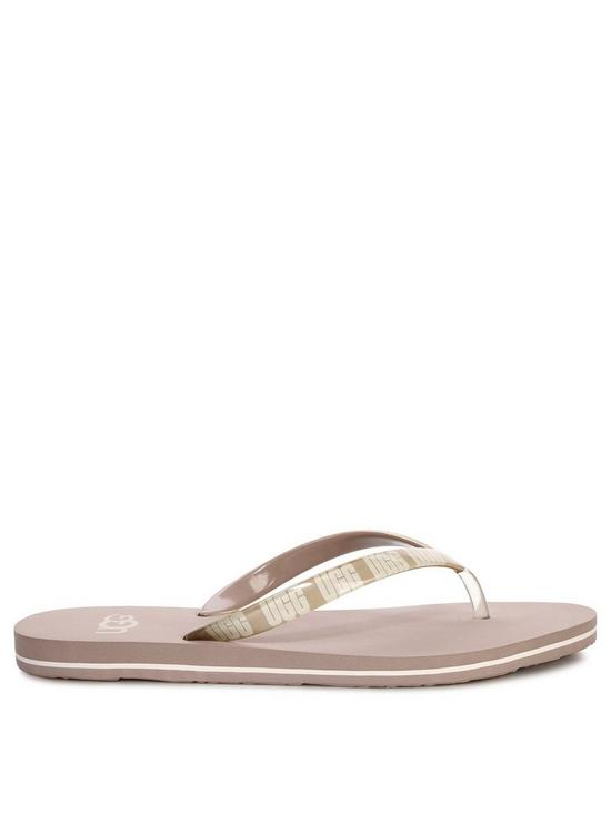fa91e66153a Simi Graphic Flip Flops - Grey