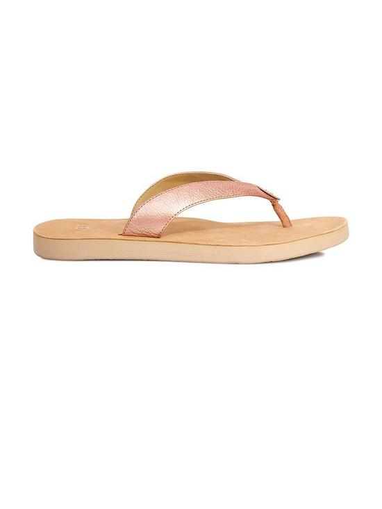 b773c28e60e9b1 UGG Tawney Metallic Flip Flop Shoes - Rose Gold