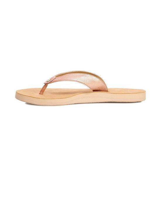 a67c5ffa826 Tawney Metallic Flip Flop Shoes - Rose Gold