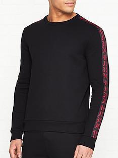 hugo-doby-arm-logo-crew-sweatshirt-black