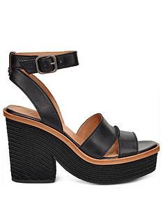 8169d0b7e010 UGG Carine Chunky Wedge Sandals - Black