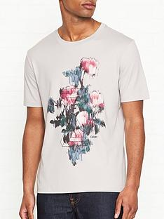 hugo-roses-print-t-shirt-grey