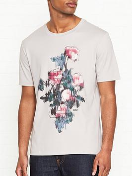 hugo-roses-print-t-shirt-grey