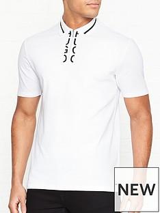 hugo-dolmar-placket-logo-polo-shirt-white