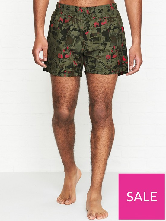e2ddf49182 HUGO Grenada Print Swim Shorts - Camo | very.co.uk