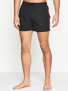hugo-mustique-side-logo-swim-shorts-black