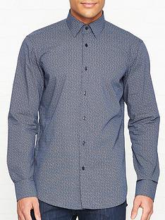 hugo-venzo-logo-print-long-sleeve-shirt-navy