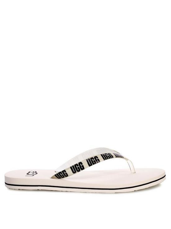 d5c945321cc0 UGG Simi Graphic Flip Flops - White