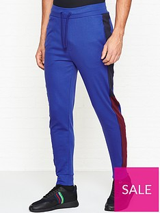 hugo-devry-cuffed-sweatpants-blue