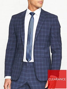 hugo-windowpane-check-jacket-navy