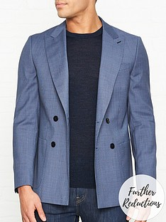 hugo-harveynbsppuppytoothnbspprint-jacket-blue