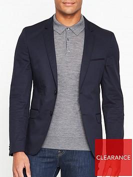 hugo-plain-suit-jacket-navy