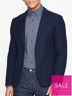 hugo-areltu-textured-jacket-navy