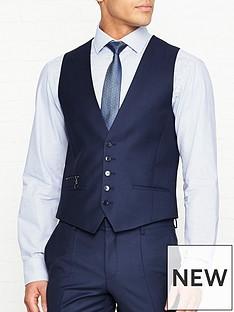 hugo-vin-birdseye-suit-waistcoat-navy