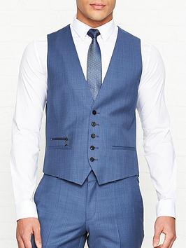hugo-vinnbspmicro-check-suit-waistcoat-blue