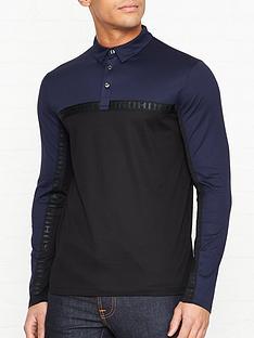 hugo-doulon-long-sleeve-two-tone-polo-shirt