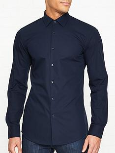 hugo-koey-long-sleeve-cotton-shirt-navy