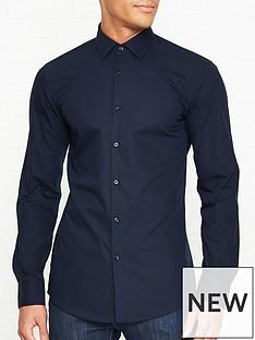 hugo-koey-long-sleeve-cotton-shirt-navy