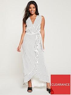 v-by-very-sleeveless-wrap-front-maxi-dress-stripe