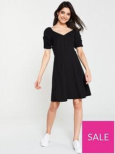 v-by-very-button-through-jersey-skater-dress-black