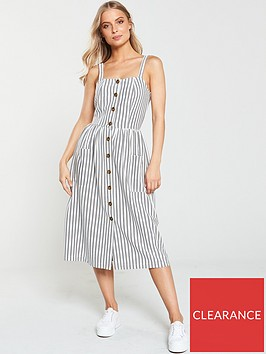 v-by-very-jersey-jacquard-button-through-dress-stripe
