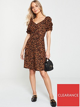 v-by-very-button-through-jersey-skater-dress-animal-print