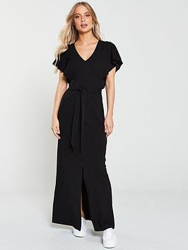 v-by-very-jersey-crepe-button-through-maxi-dress-black