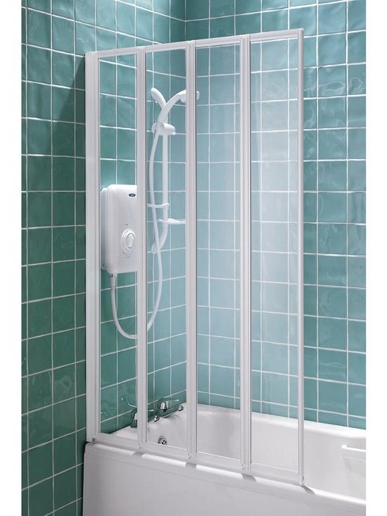 Aqualux 4 Fold Shower Screen | Very.co.uk