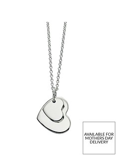the-love-silver-collection-personalised-sterling-silver-double-heart-pendant-necklace