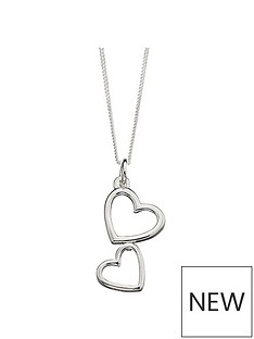 the-love-silver-collection-sterling-silver-double-heart-pendant-necklace