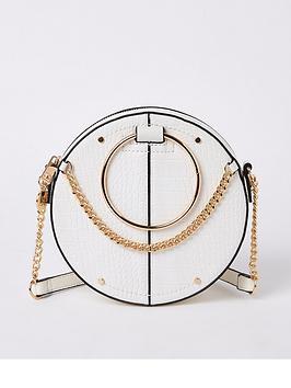 river-island-river-island-chain-detail-circle-bag-white