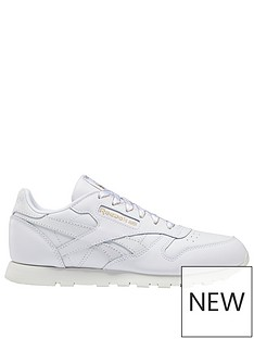 reebok-classic-leather-junior-trainers-whitegreygold